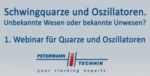 1. Webinar für Quarze und Oszillatoren